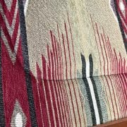 Close up of mule saddle pad fabric
