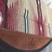Close up of Steve Edwards' Brick Mule Saddle Pad